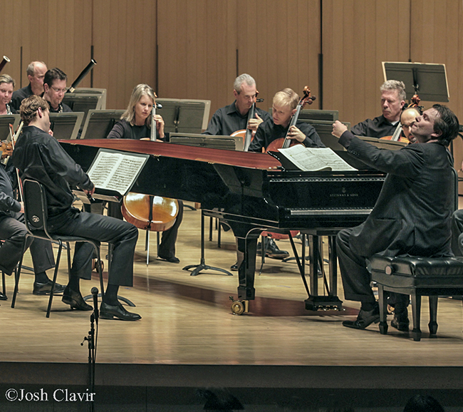 Ignat Solzhenitsyn conducting Mozart's Piano Concerto No. 18 photo by Josh Clavir 2